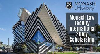 Monash Law Faculty International Study Scholarships in Australia, 2020