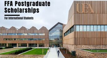 UEA FFA postgraduate placements for International Students in UK, 2020