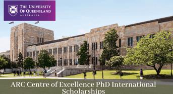 UQ ARC Centre of Excellence PhD international awards in Australia, 2020