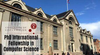 University of Copenhagen PhD International Fellowships in Computer Science, Denmark