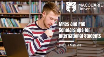 MRes and PhD Positionsfor International Students at Macquarie University in Australia, 2020