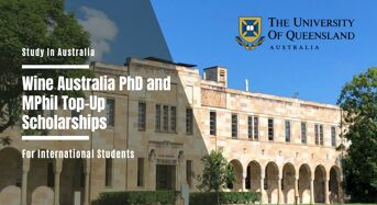 UQ Wine Australia PhD and MPhil Top-Upinternational awards, 2020