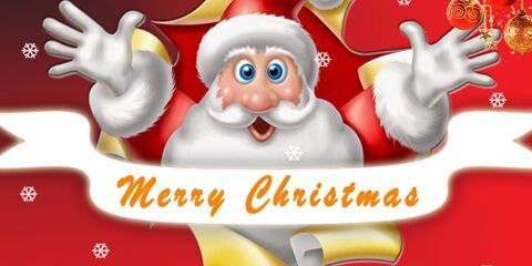 Christmas Greeting With Santa JPG and PSD 6