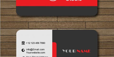 Business Card With Red and Black Combination Vector 4