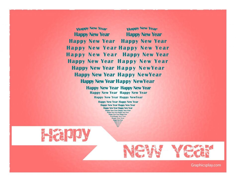 New Year Greeting in Love JPG and Vector 1