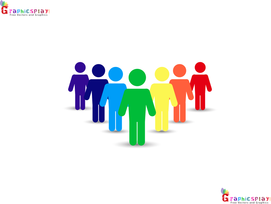 Colorful Standing Men PNG and Vector 1