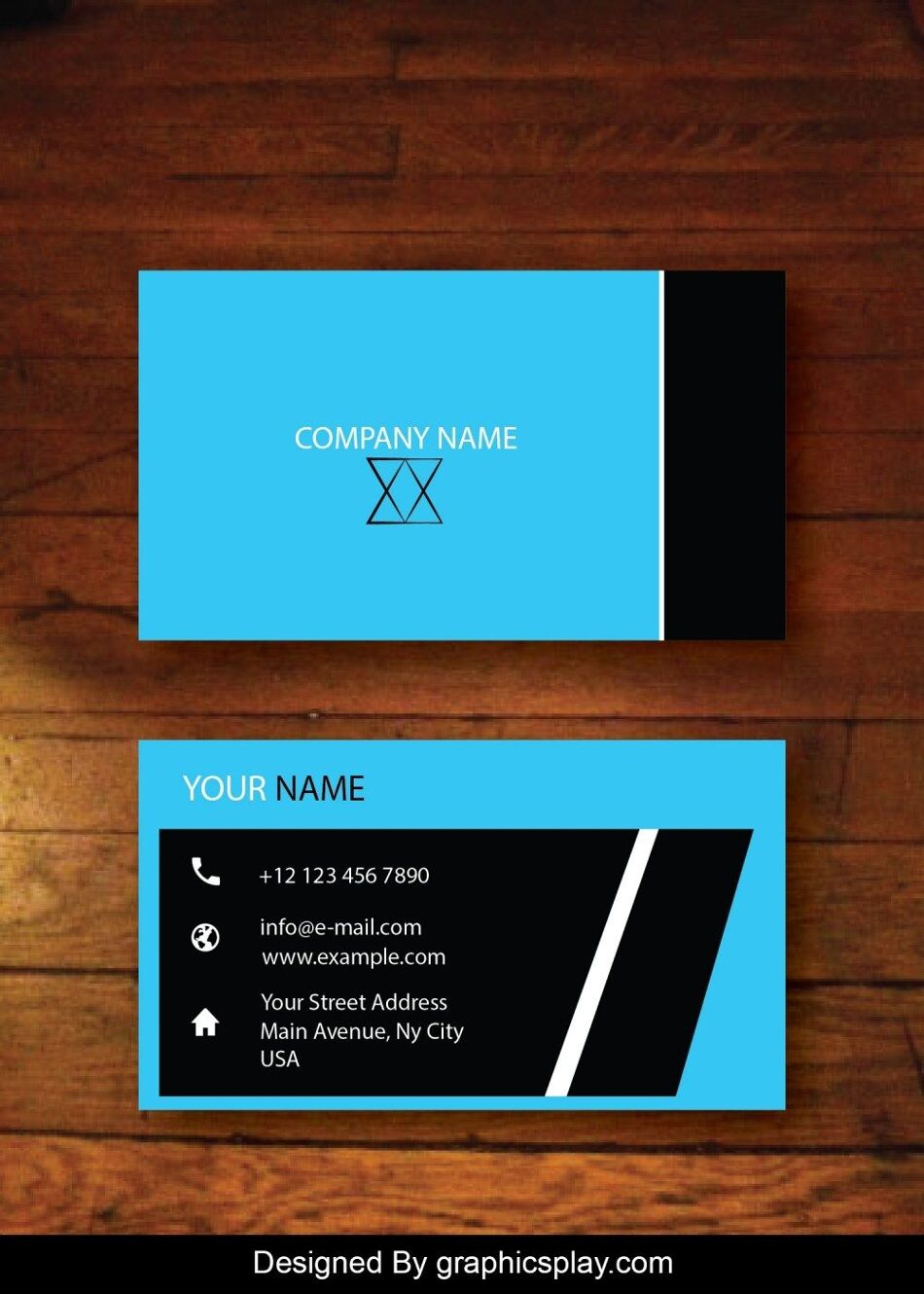 Business Card Design Vector Template - ID 1728 1