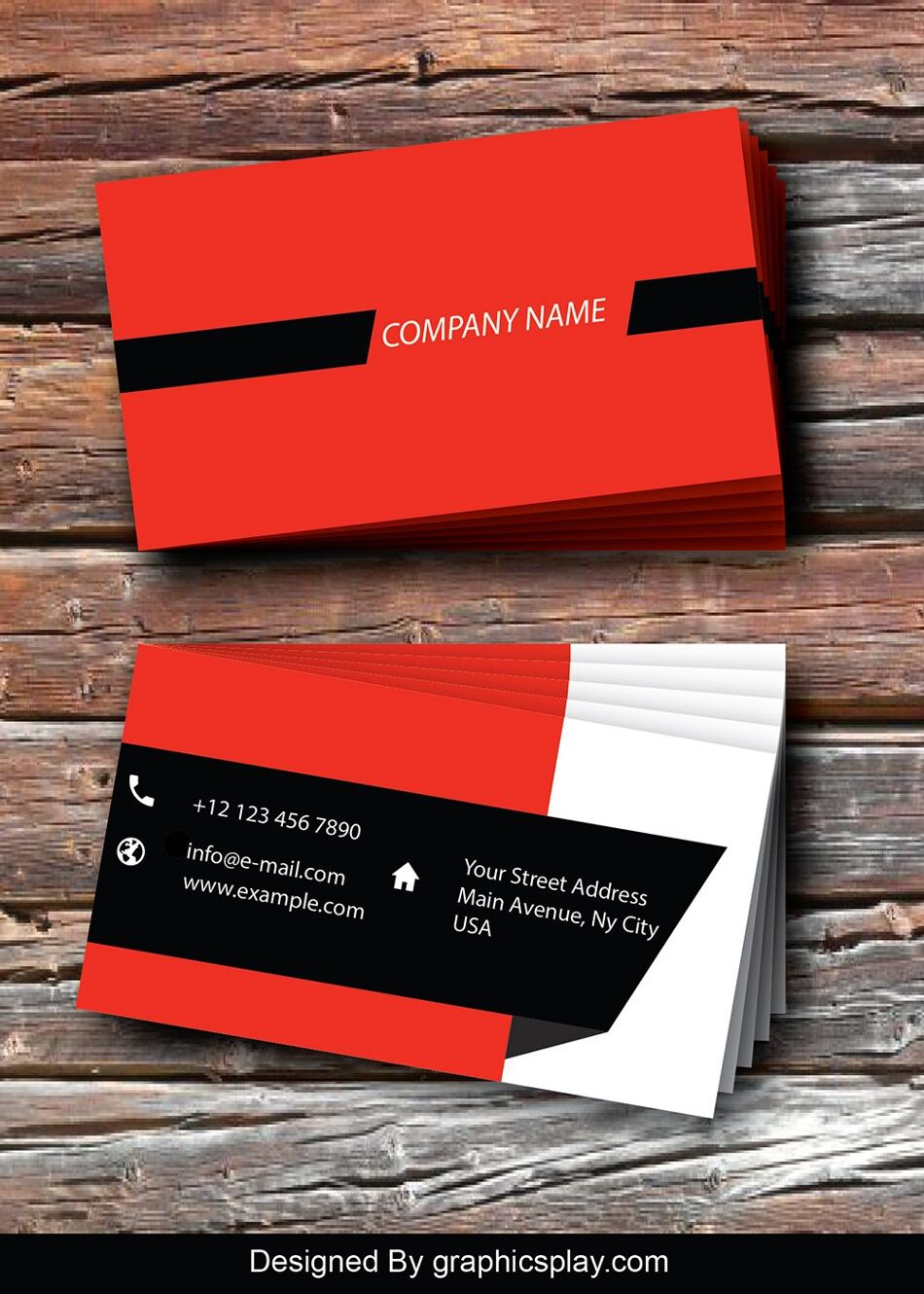 Business Card Design Vector Template - ID 1733 1