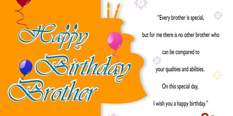Happy Birthday Brother Greeting with Quotes 3
