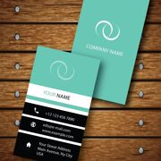 Vertical Business Card Design Vector Template - ID 1736 8