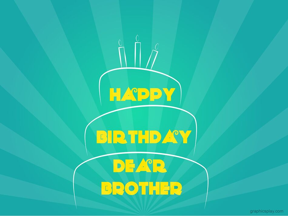 Happy Birthday Brother Simple Greeting 1