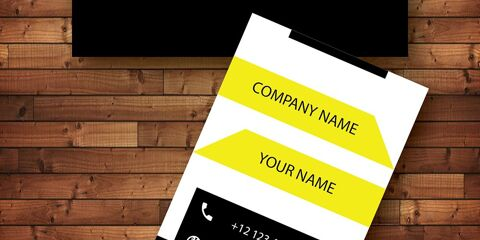 Vertical Business Card Design Vector Template- ID 1742 4