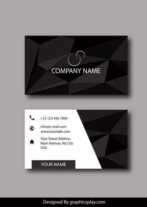 Business Card Design Vector Template - ID 1785 7