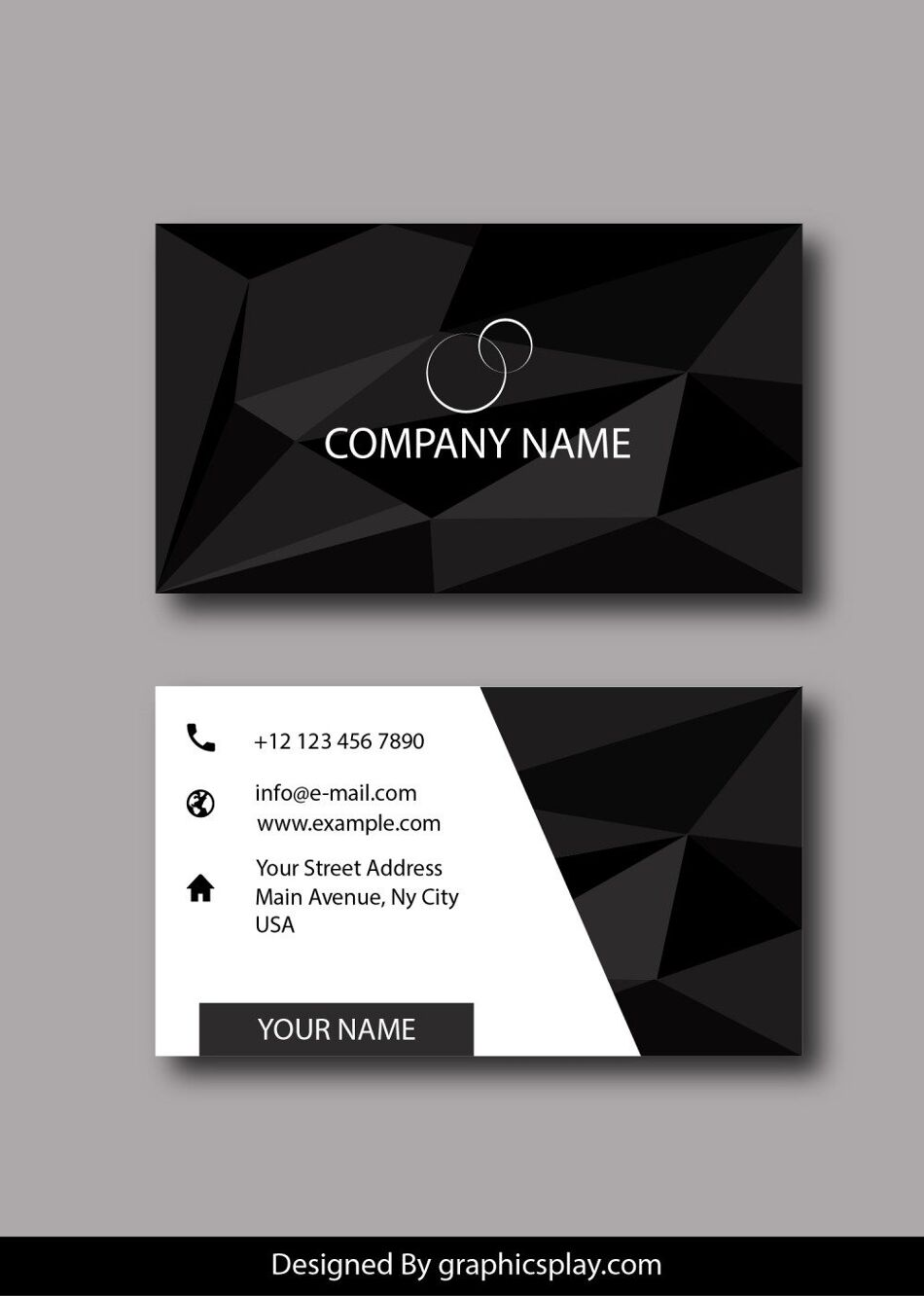 Business Card Design Vector Template - ID 1785 1