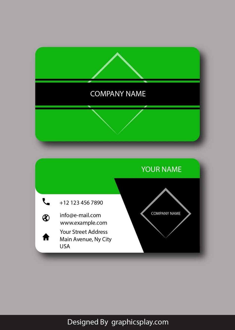Business Card Design Vector Template - ID 1793 1
