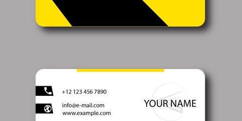 Business Card Design Vector Template - ID 1796 3