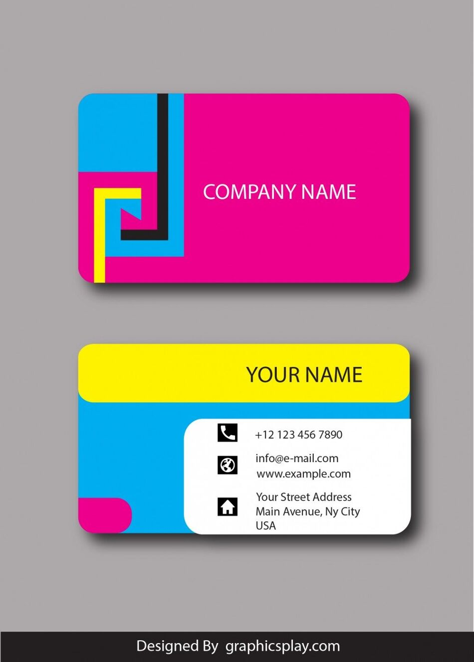 Business Card Design Vector Template - ID 1800 1