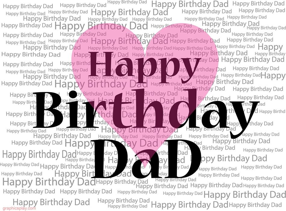Happy Birthday Dad Greeting with Love 1