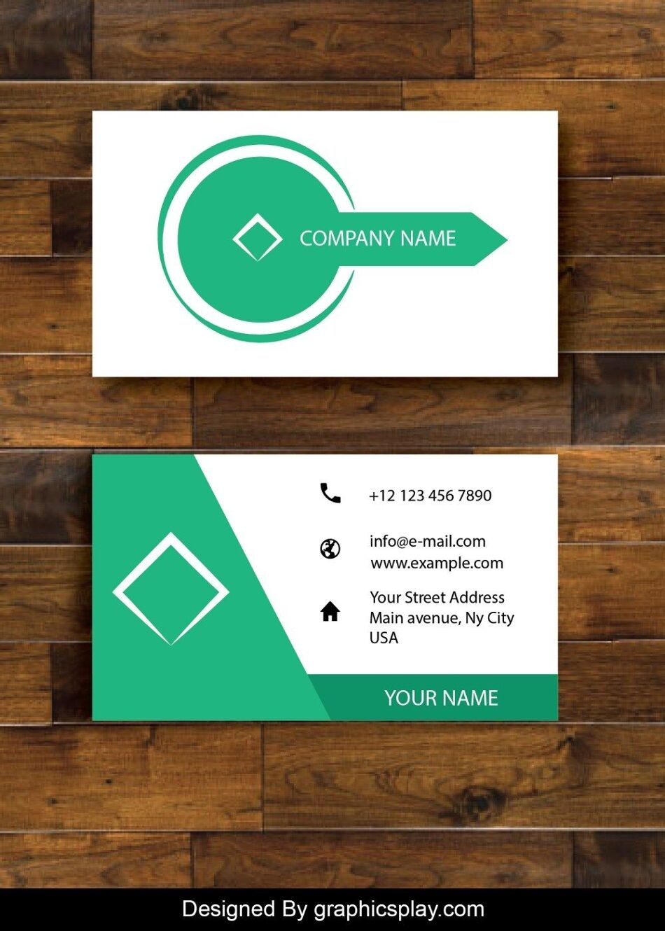 Business Card Design Vector Template - ID 1690 1