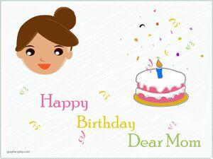Happy Birthday Dear Mom Greeting 1