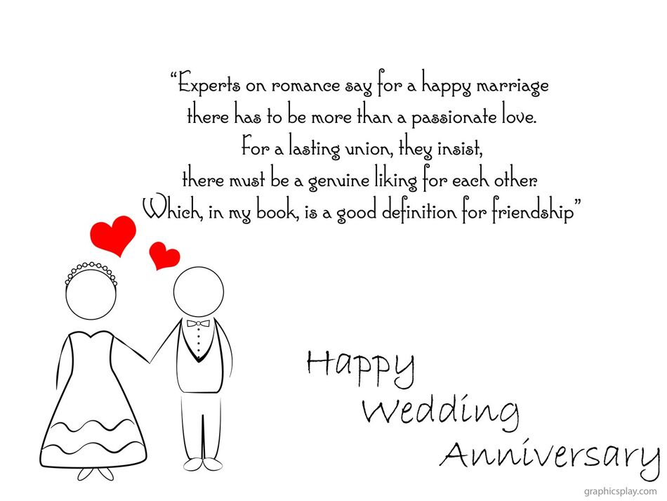 Happy Wedding Anniversary Greeting With Quotes 1