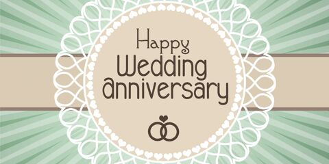 Happy Wedding Anniversary Simple Greeting 7