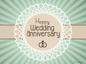 Happy Wedding Anniversary Simple Greeting 11