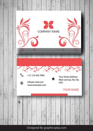 Business Card Design Vector Template - ID 1699 17