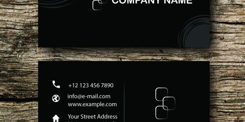 Business Card Design Vector Template - ID 1706 5