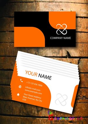 Business Card Design Vector Template - ID 1712 14
