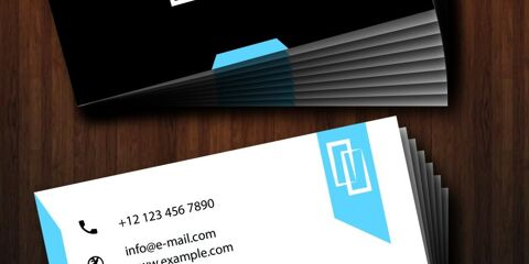 Business Card Design Vector Template - ID 1725 2