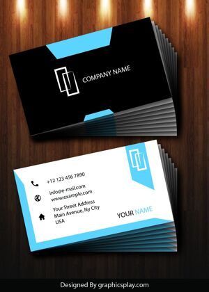Business Card Design Vector Template - ID 1725 12