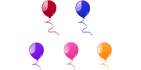 Beautiful Balloon Vector and PNG 8