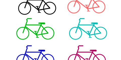 Simple Bicycle PNG and Vector 26