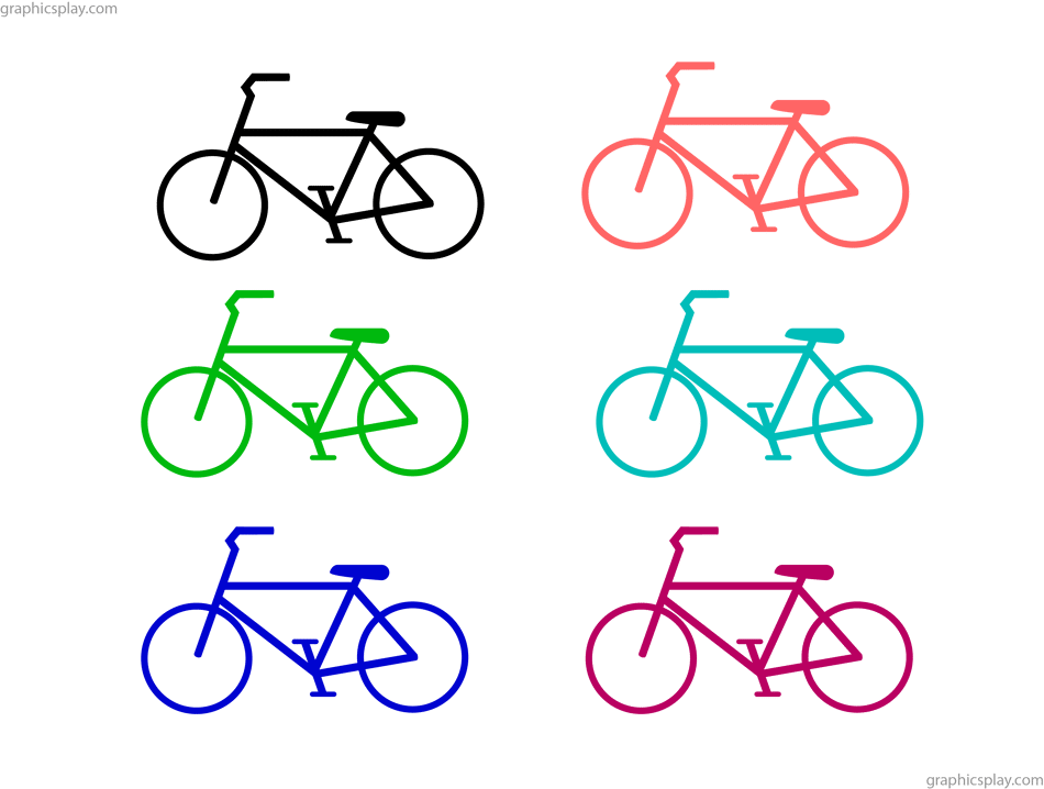 Simple Bicycle PNG and Vector 1