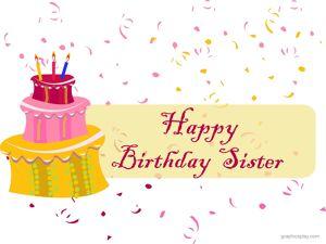 Happy Birthday Sister Greeting 15