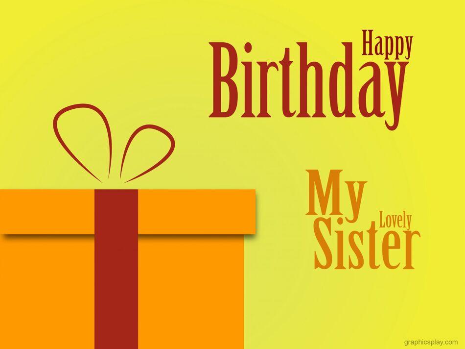 Happy Birthday My Sister Greeting 1