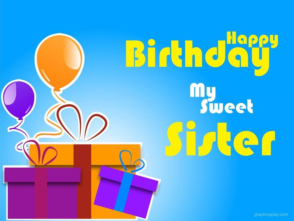 Happy Birthday Sweet Sister Greeting 1