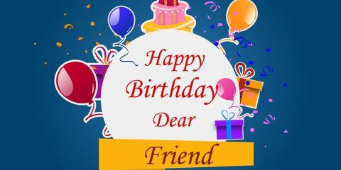 Happy Birthday Dear Friend Greeting 11