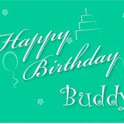 Happy Birthday Buddy Greeting 3