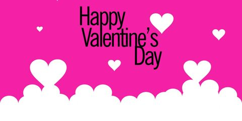 Happy Valentines Day Greeting Pink 23