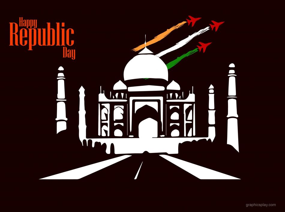 Beautiful Happy Republic Day Indian Greeting 1