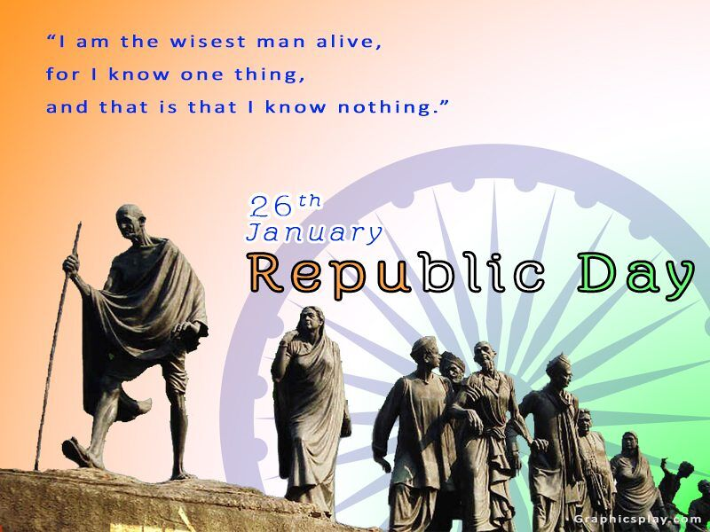 Indian Republic Day Greeting With 1