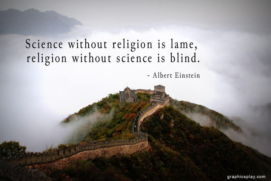 Albert Einstein's Quote about Science and Religion 1