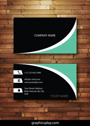 Business Card Design Vector Template - ID 4143 2