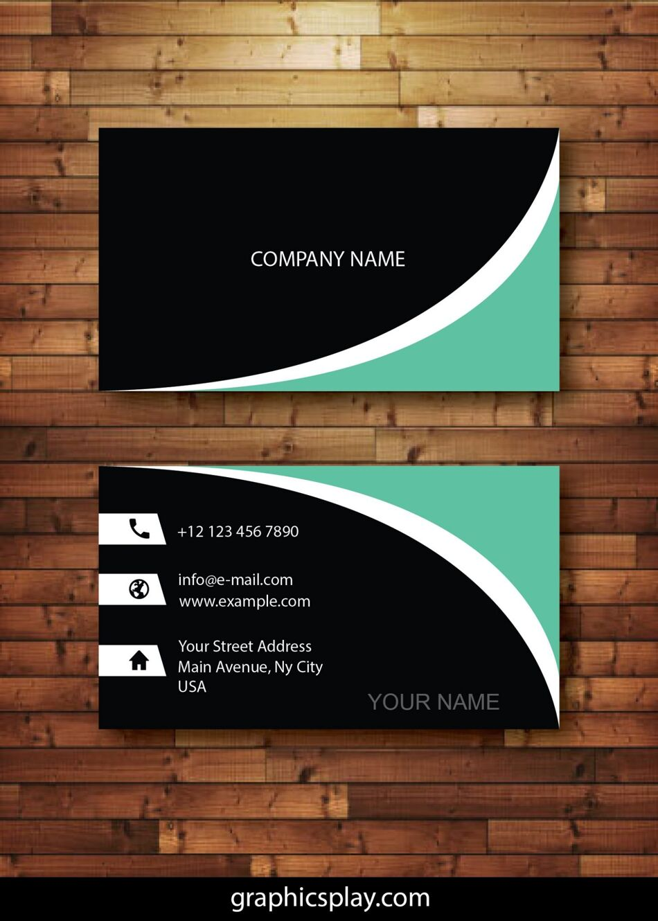 Business Card Design Vector Template - ID 4143 1