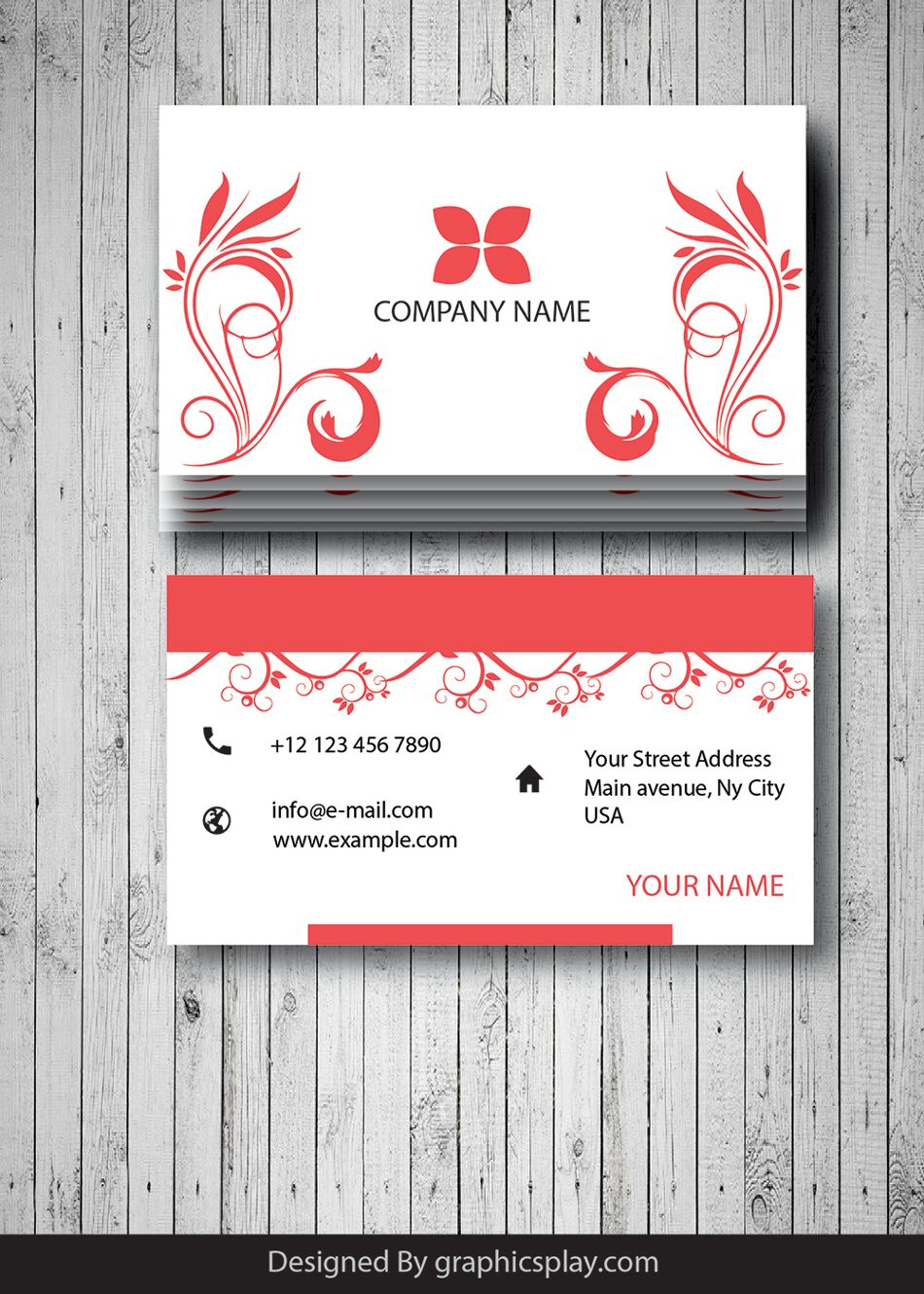 Business Card Design Vector Template - ID 1699 1