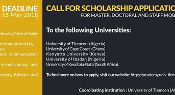 ACADEMY Project Scholarship for African Students at Consortium Partner Universities, 2018