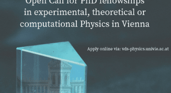 VDS-P PhD Fellowships in Experimental, Theoretical or Computational Physics in Austria, 2018
