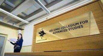 Helsinki Collegium for Advanced Studies Postdoctoral Fellowship in Arts in Finland, 2018